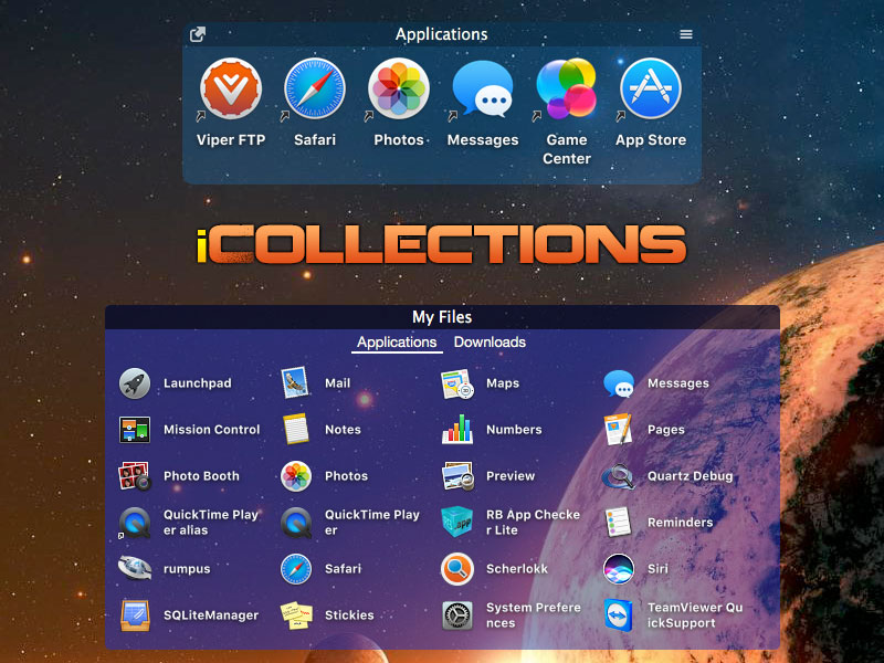 iCollections - Organise your Mac desktop